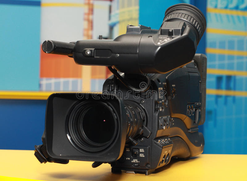 Professional digital video camera stock photos
