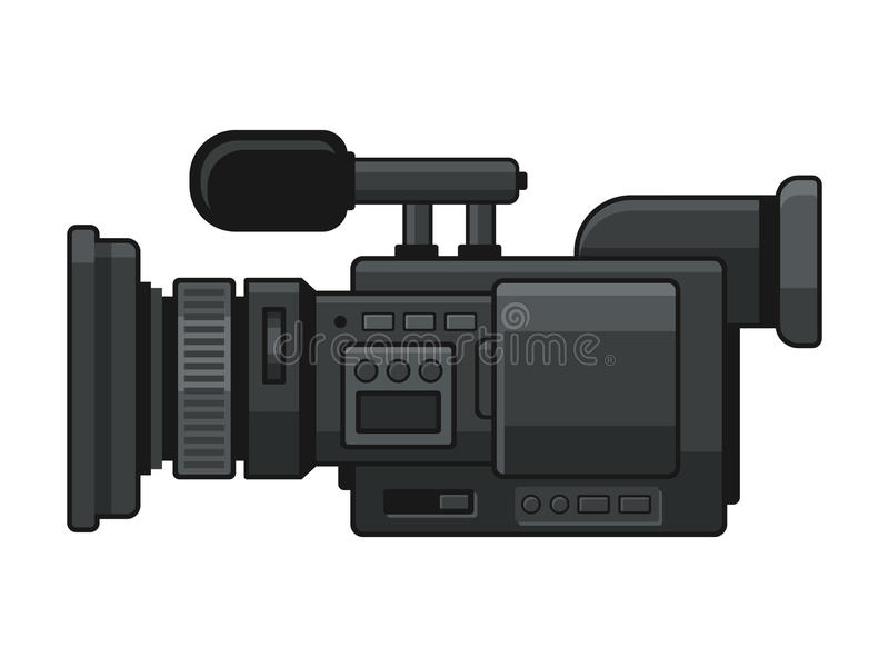 Professional Digital Video Camera Recorder Icon. Vector. Illustration stock illustration