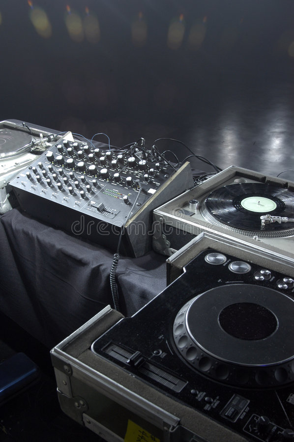 Professional DJ gear royalty free stock photos
