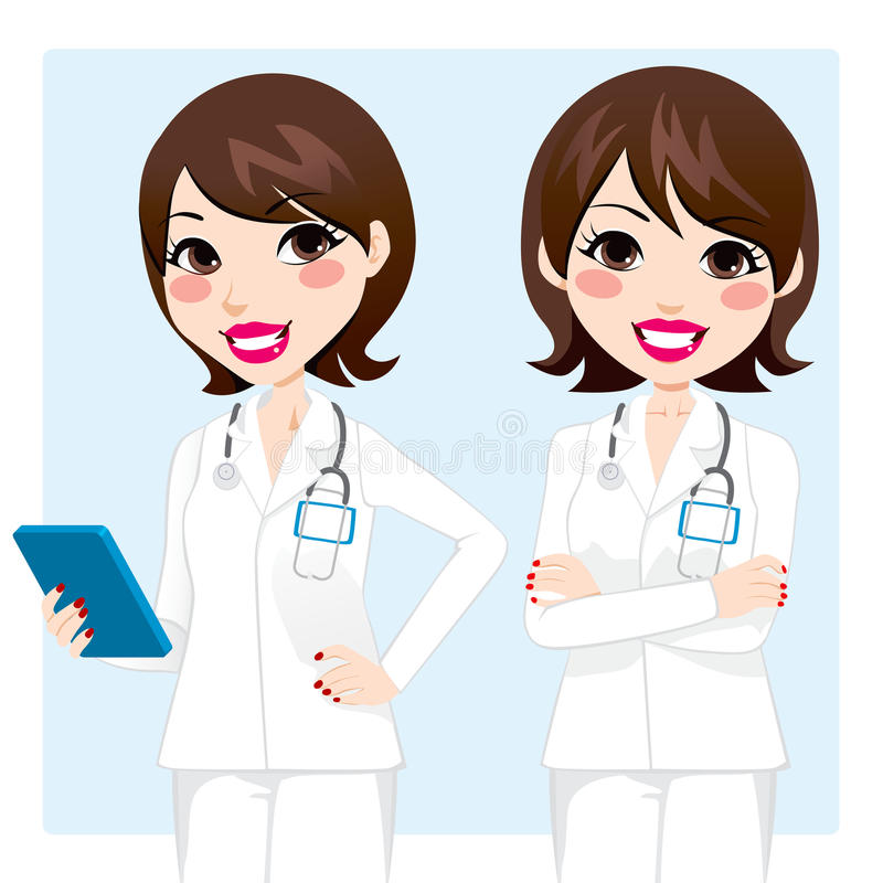 Professional Doctor Woman vector illustration
