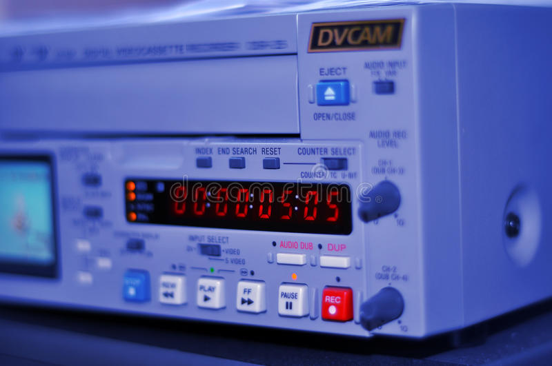 Professional dv recorder royalty free stock photography