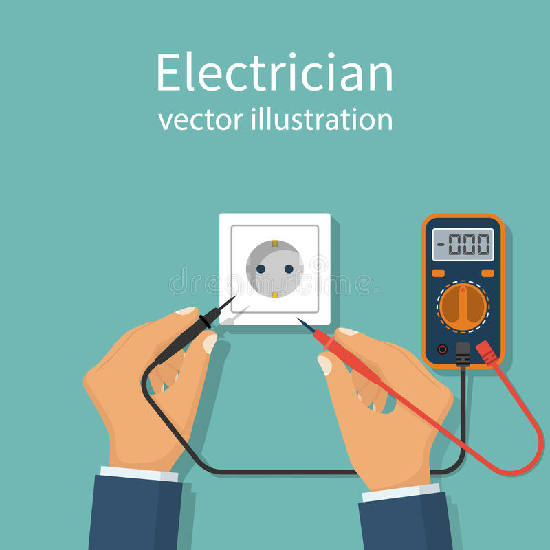 Professional Electrician Icon Stock Vector - Illustration of display ...