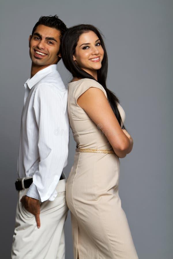 Professional ethnic couple stock photos