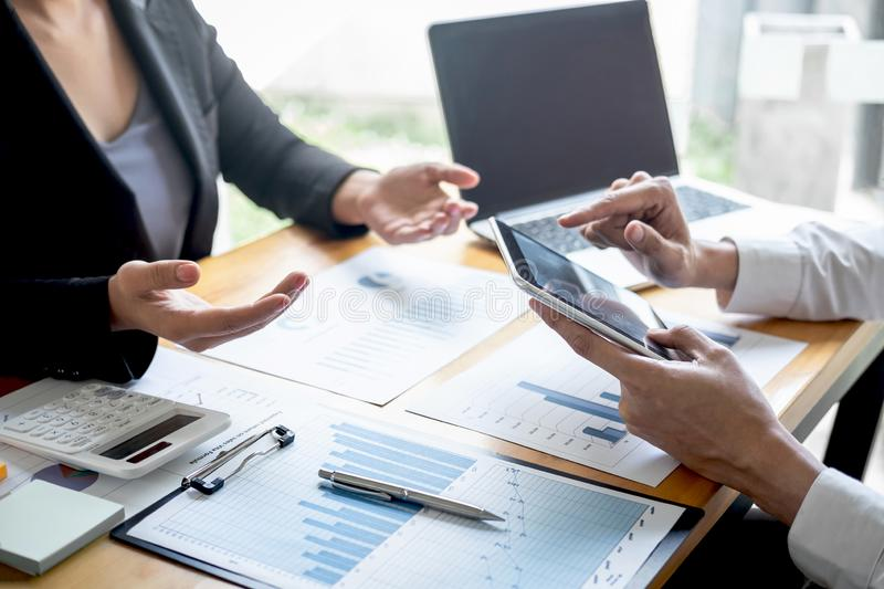 Professional Executive business team brainstorming on meeting to planning investment project working and strategy of business royalty free stock image