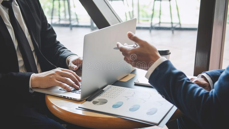 Professional executive manager, Business partner discussing ideas marketing plan and presentation project of investment at meeting royalty free stock images