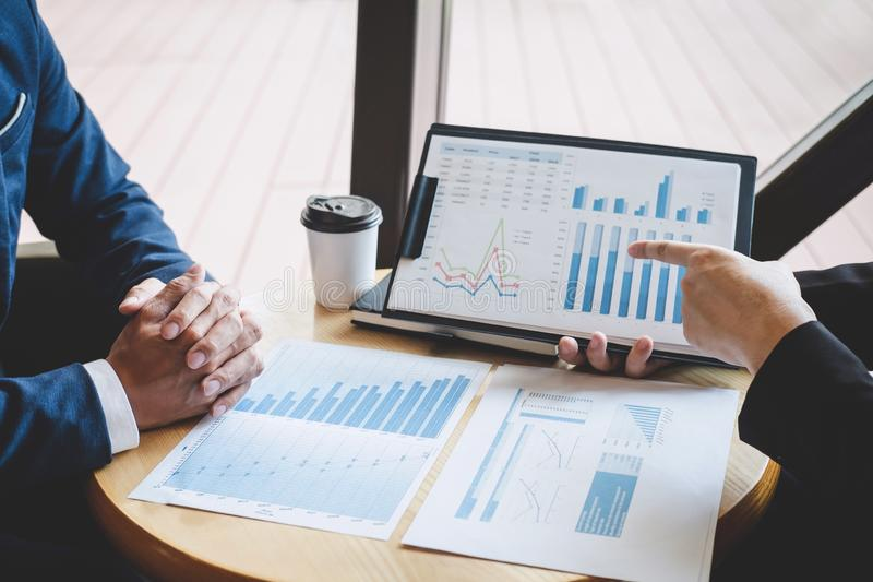 Professional executive manager, Business partner discussing ideas marketing plan and presentation project of investment at meeting royalty free stock photos