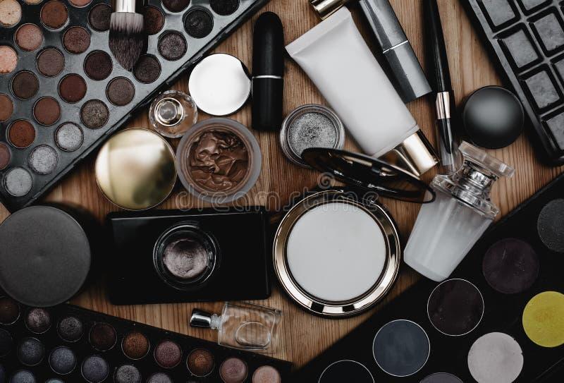 Professional female cosmetics. Set of professional female cosmetics stock image