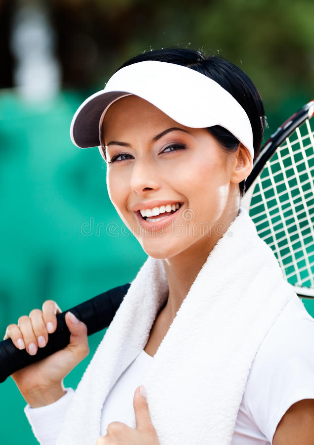 Professional Female Tennis Player Royalty Free Stock Photography