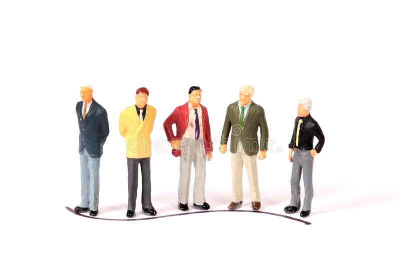 Professional figurines royalty free stock photos