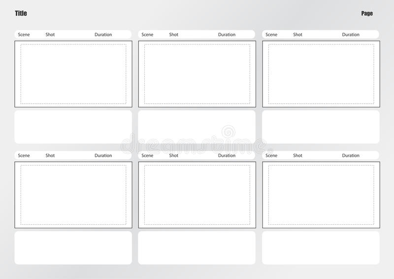 Professional Of Film Storyboard Template Stock Illustration