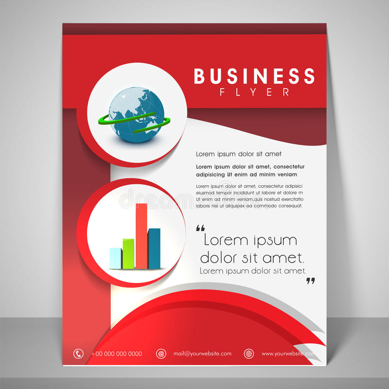 Professional Flyer Template Or Banner For Business Stock