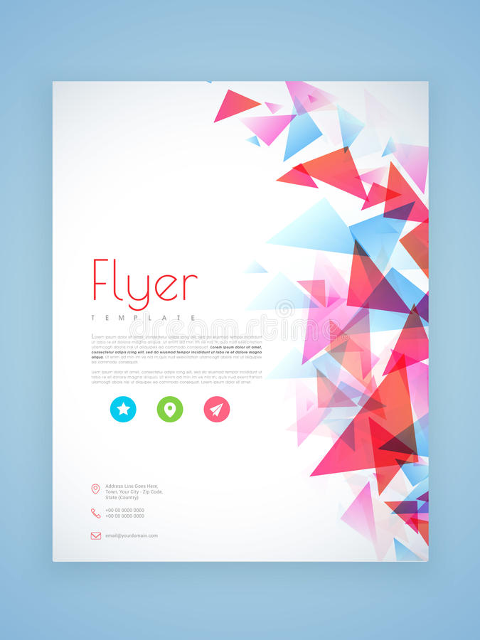 Professional Flyer Template Or Brochure Design Stock Illustration