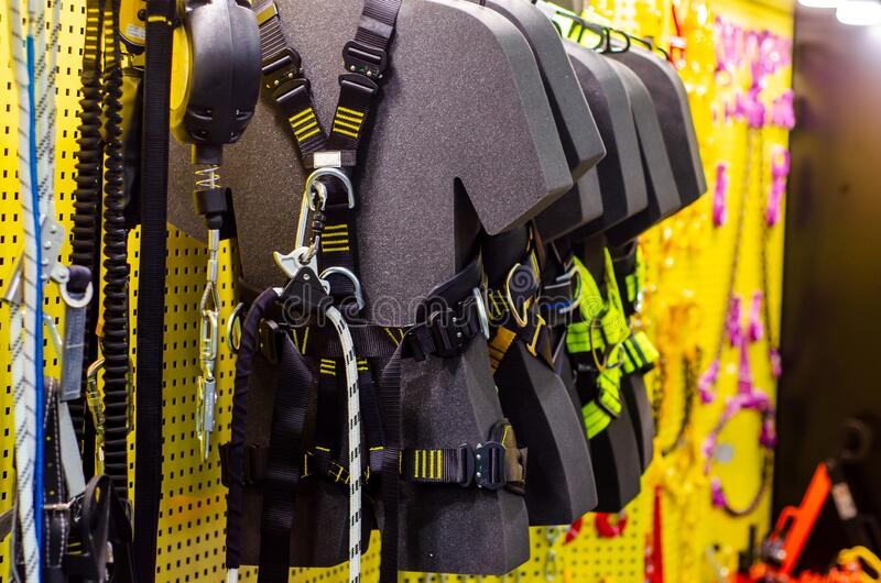 Professional full body work harness for sale.  stock photos