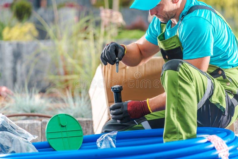 Professional Garden Irrigation stock photo