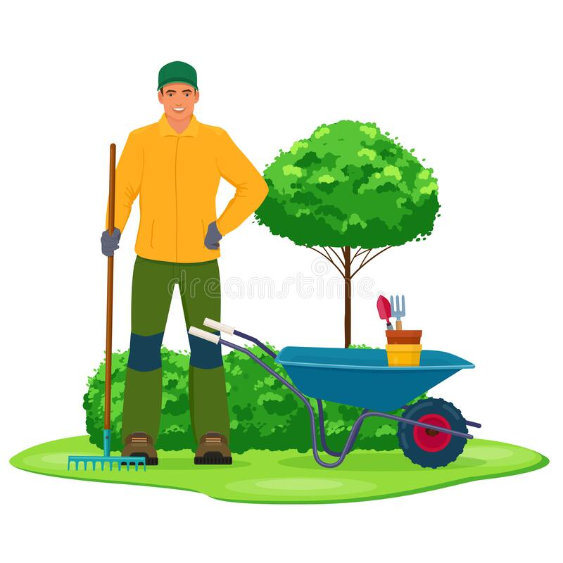 Free Professional Gardener With Garden Tool Royalty Free Stock Image - 176473546