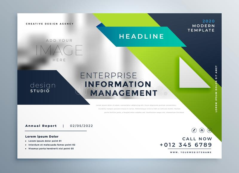 Professional geometric creative business brochure template stock illustration