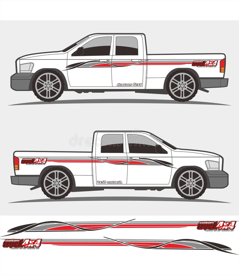 Download truck and vehicle decal graphics kits design stock vector illustration of graphics side