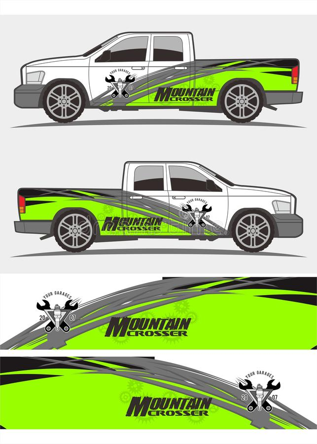 Truck and vehicle stickers Graphics Kits design stock images
