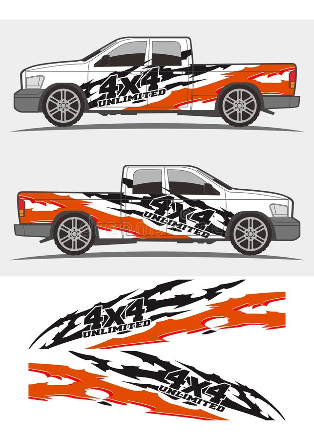 Truck and vehicle decal Graphics Kits design vector illustration