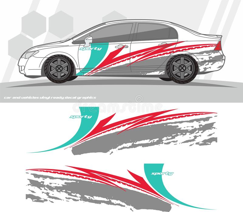 Car and vehicles decal Graphics Kit designs. ready to print and cut for vinyl stickers. vector illustration