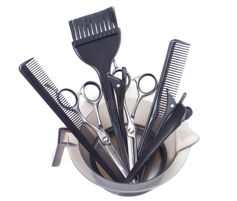 Professional Hair Coloring Tools - Stock Image Stock Photo - Image ...