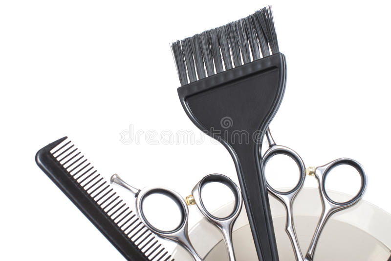Professional Hair Coloring Tools - Stock Image Stock Image - Image ...