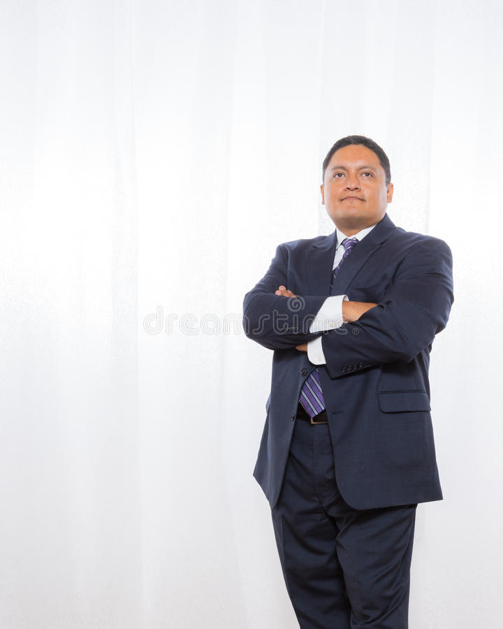 Professional Hispanic Male In Suit With Confident Expression royalty free stock images