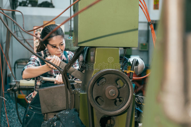Professional industrial factory female employee royalty free stock image