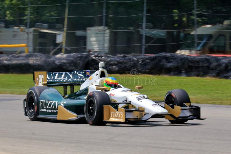 Professional Indy car race royalty free stock photography
