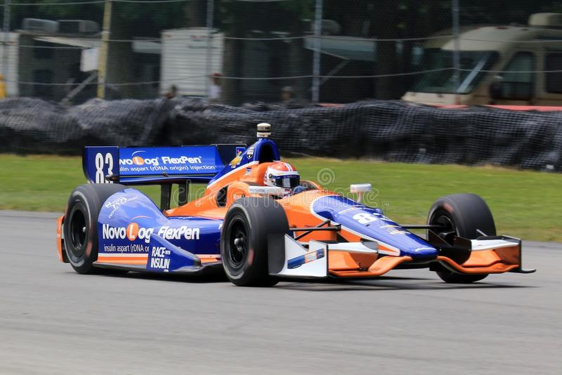 Professional Indy car race stock photo