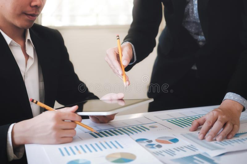 Professional investor working new startup project. royalty free stock photography