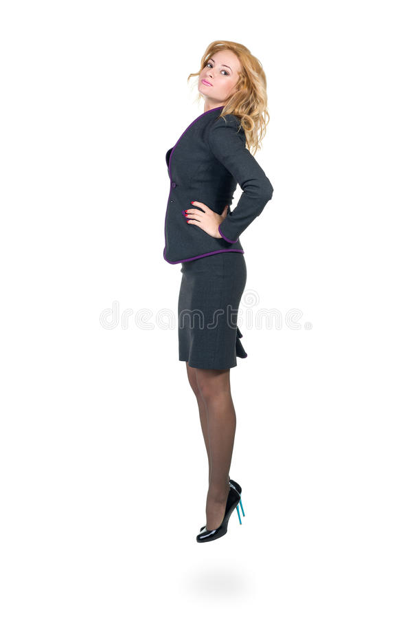professional kvinnabarn Caucasian affärskvinna royaltyfri foto