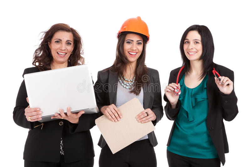 professional kvinnaworkforce royaltyfri fotografi