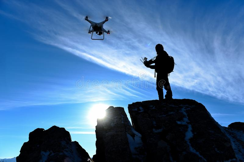 From your future professions;drone pilot royalty free stock image