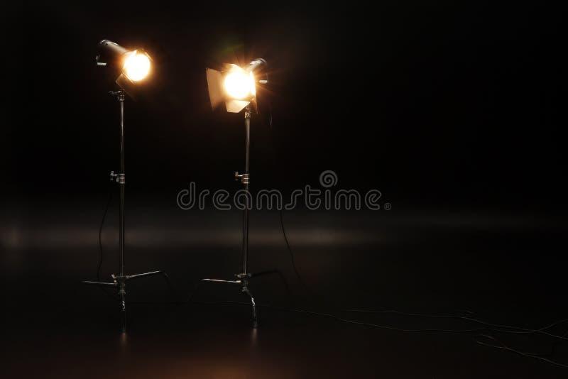 Professional Lighting Equipment On Dark Background Stock Image Image Of Light Photo 151317873