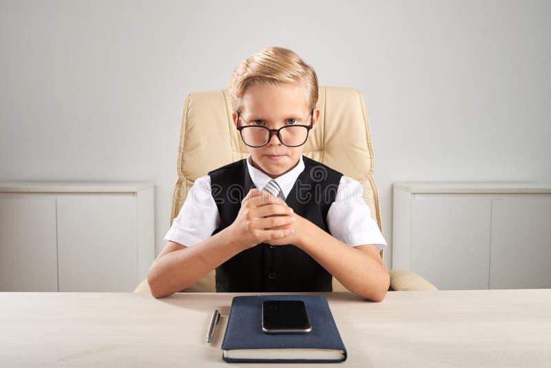 Professional little entrepreneur royalty free stock photos