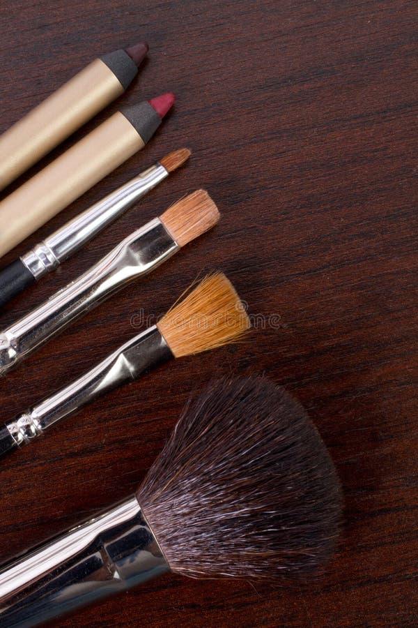 Professional make-up tools stock photo