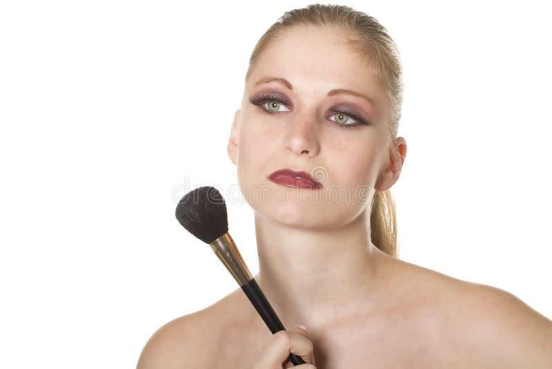 Download Professional makeup stock image. Image of close, blond - 17755247