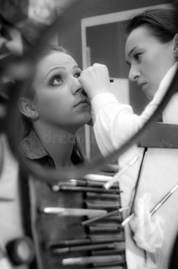 Professional makeup artist royalty free stock images