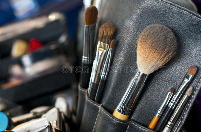 Download Professional Makeup Case With Brushes Stock Image - Image: 18554837
