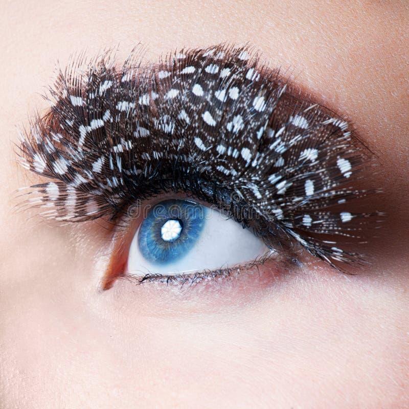Professional Makeup. False Eyelashes royalty free stock photography