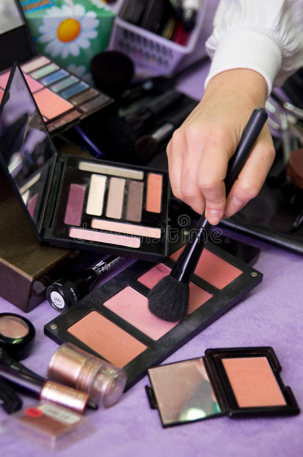 Download Professional makeup kit stock photo. Image of fluid, shadows - 25573272