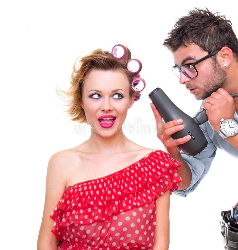 Download Professional male frisör fotografering för bildbyråer. Bild av spray - 27285605