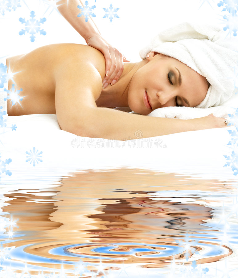 Download Professional Massage On White Sand Stock Image - Image: 6593839