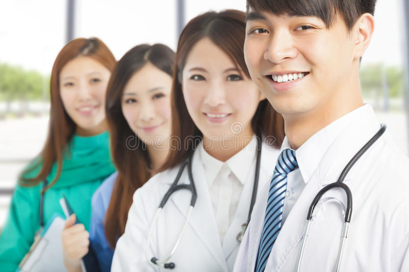 Professional medical doctor team standing royalty free stock photos