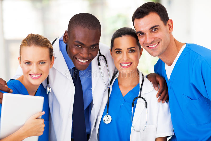 Professional medical team royalty free stock photos