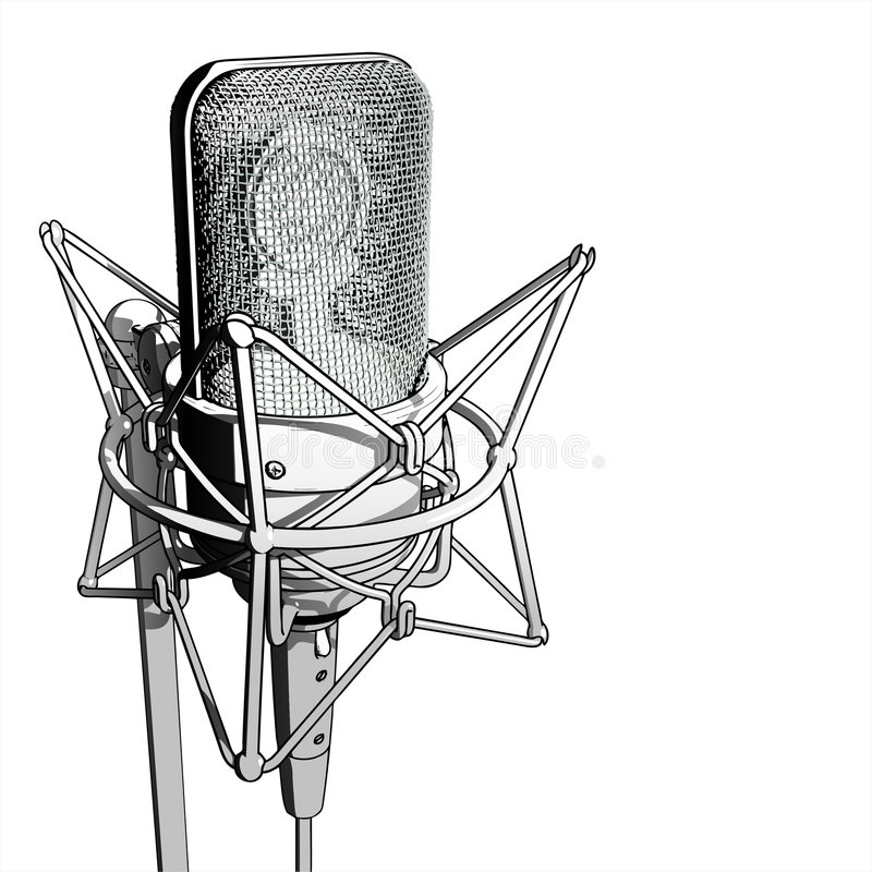 Professional microphone stock illustration