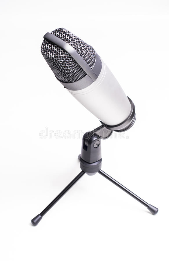 Download Professional microphone stock photo. Image of music, white - 37685358