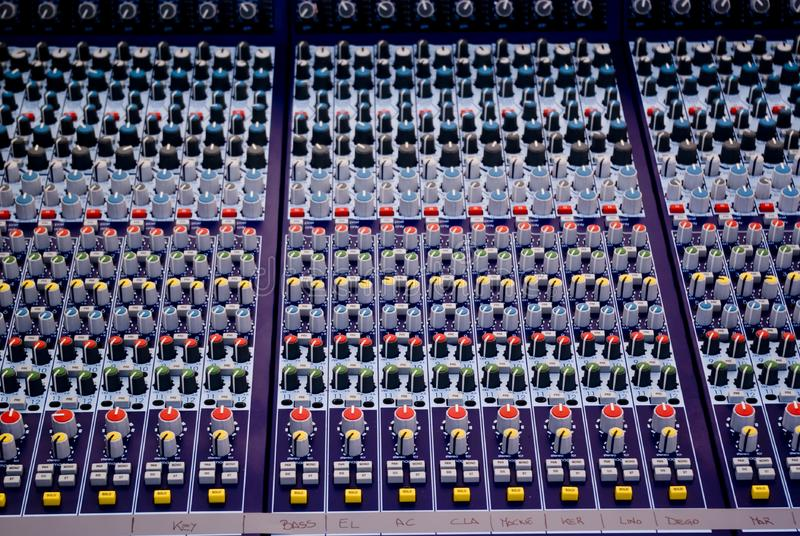 Professional mixing console stock photography