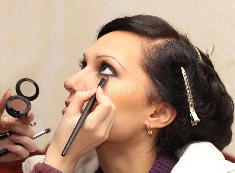 Download Professional Model Apply Makeup Stock Photo - Image: 12990140